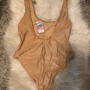 Forever 21 Metallic One Piece Bathing Suit NWT